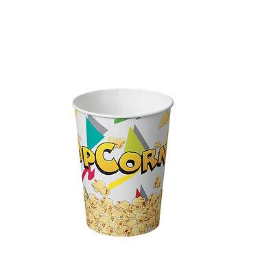 Popcorn Bucket, Paper, with Popcorn Decor, Ø11.4cm, 1050ml