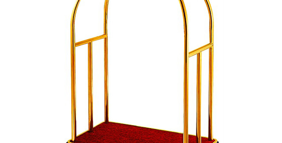 Luggage Trolley with Hanger, Gold Color