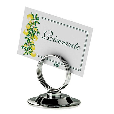 Card Holder Leone, Stainless Steel, 1 pc, 5.8x6cm
