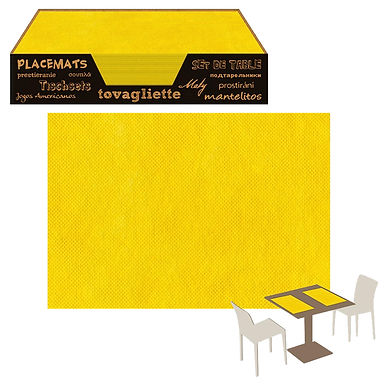 Placemat Pack Service Italia, Non Woven, Yellow, 33x45cm