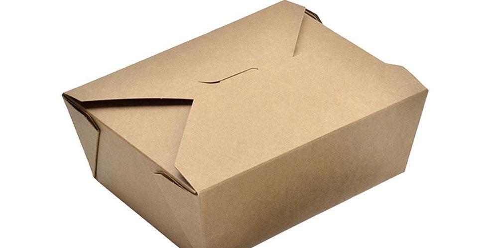 Disposable Food Box, Kraft Paper, 16.9x13.7x6.5cm