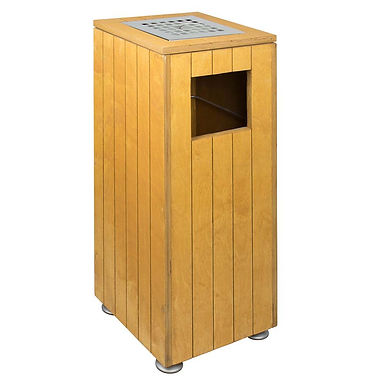 Floor Bin with Ashtray, Wooden, 31x31xH71cm