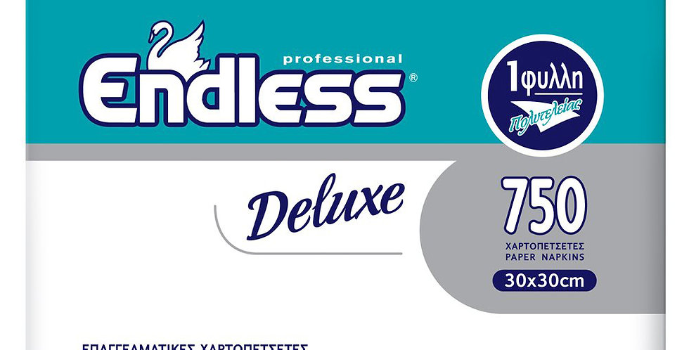 Napkin Endless Deluxe, White, 1ply, 730gr, 750pcs, 30x30cm