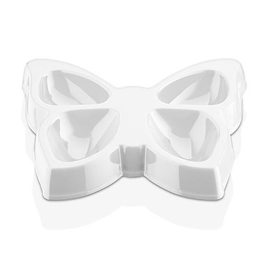 Butterfly Saucer GastroPlast, 4 Compartments, Polycarbonate, Ø180mm