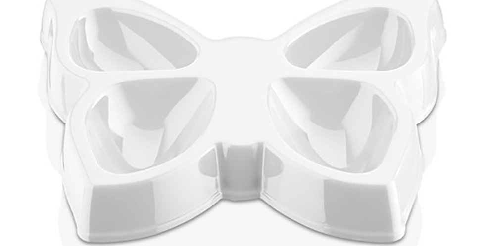 Butterfly Saucer GastroPlast, 4 Compartments, Polycarbonate