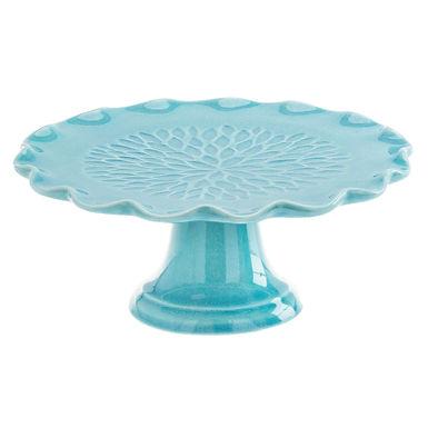 Cake Stand Leone Gauid, Stoneware, Blue, 1 pc, Ø21.5x8.7cm