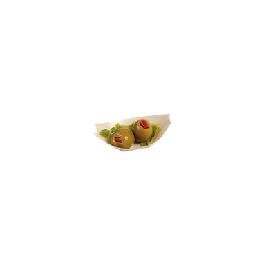 Disposable Boat Bowl First Pack, Biodegradable, Pine Wood, 6.6x4.7cm