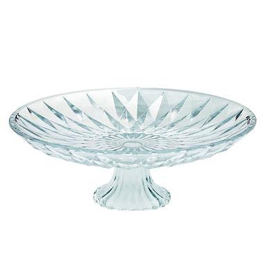 Cakestand Leone Frozen, Glass, 1 pc, Ø25x10.5cm
