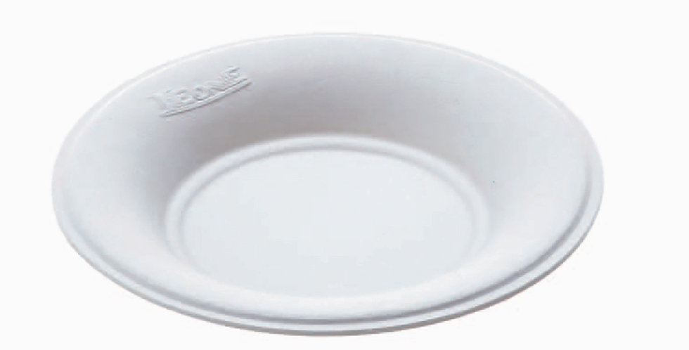Fingerfood Round Plate Leone, Biodegradable Cellulose Pulp, 50 pcs, Ø7.2x1cm