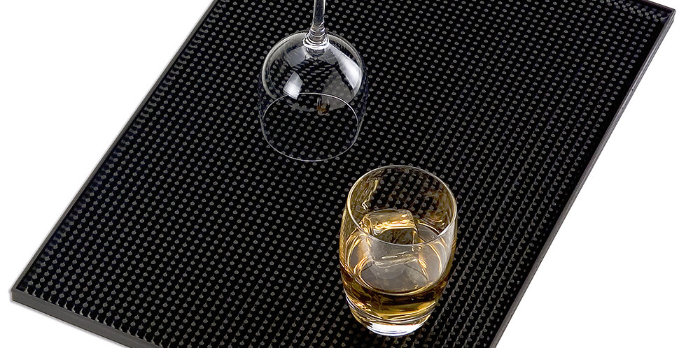 Bar Mat Leone, Rubber, Black, 1 pc, 30x40cm