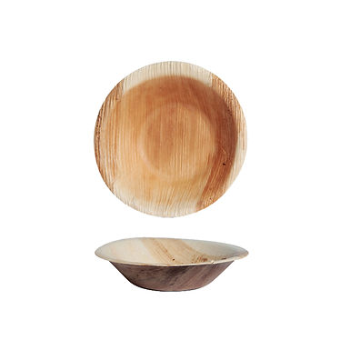 Disposable Bowl First Pack, Round, Biodegradable, Palm Wood, Ø12x2.5cm