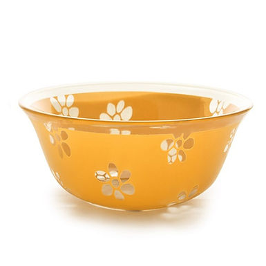 Bowl CoK Deco, Glass, Orange, Ø12.5cm