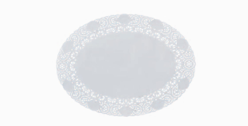Oval Coaster Leone Regal, Paper, Lace, 250 pcs, ex. 30x22cm, in. 13x20.8cm