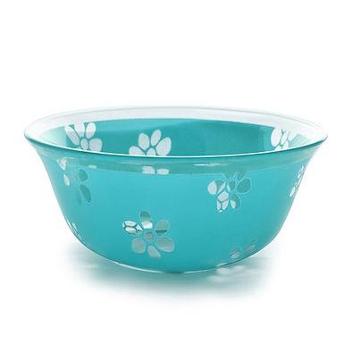 Bowl CoK Deco, Glass, Turquoise, Ø12.5cm