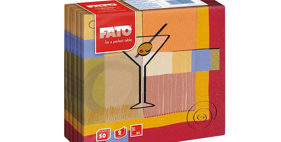 Napkin Fato, Martini Design, 2 ply, 50pcs., 25x25cm