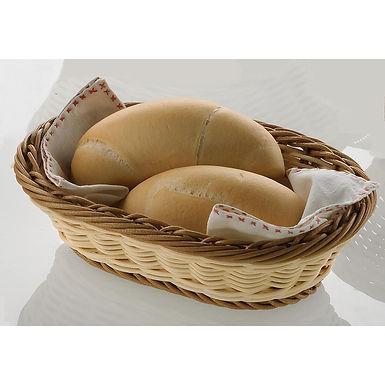 Oval Basket Leone, Polypropylene, Bicolor, 1 pc, 24x16.5x6cm