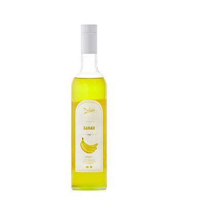 Banana  Syrup Delicia, 900g Glass Bottle
