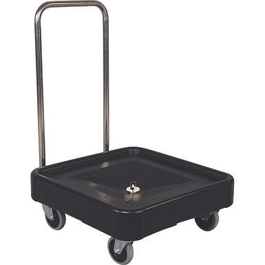 Cart for Racks with Handle Tribeca, Black, 58x58x22(90)cm
