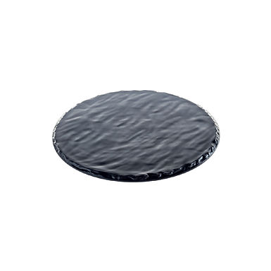 Round Tray Leone Maya, Melamine, Black, Slate Effect, 1 pc, Ø30cm