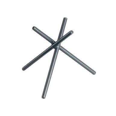 Buffet Stand Leone, Anti Skid Coated S. Steel, Grey, 1 pc, 20.5x20.5x20cm