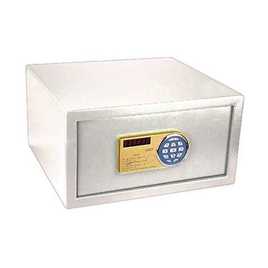 Safe with Electronic Lock, Ideal for Laptop, Cream Color, 42x38x22.5cm