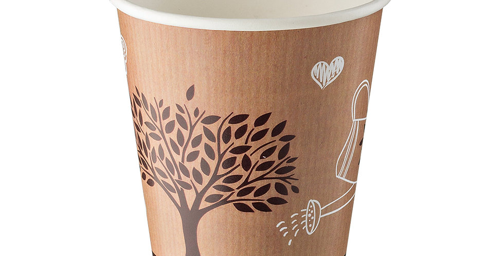 Cup Leone, Paper+PE, Make the World Different, 1000 pcs, Ø9x10.2cm, 290ml