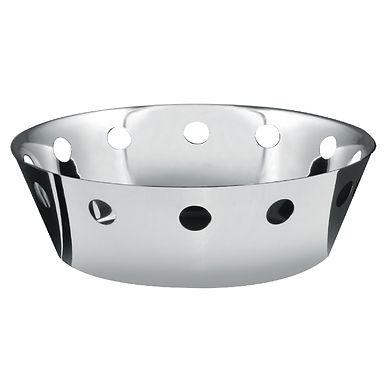Bread Basket with Holes Salvinelli, Inox, Ø20x6cm