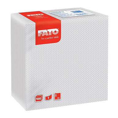 Napkin Fato, White, 1 ply, 100pcs., 33x33cm
