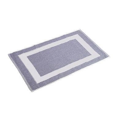 Bathroom Mat Fragente, Gray with White Frame, 50x75cm