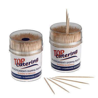 2 Point Toothpick Jar Leone, Bamboo, 500 pcs, 7cm