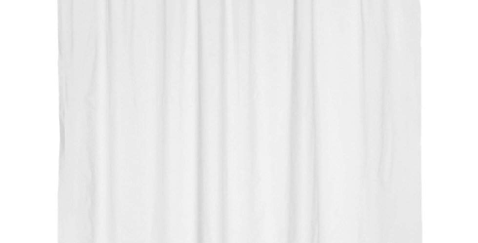 Bathroom Curtain with Rings, White, Fabric, Waterproof, 450gr, 240xH180cm
