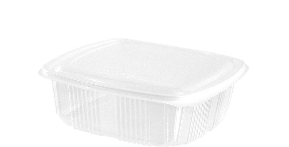 Disposable Food Box, with Built-in Lid, PP, 17.5x12.5x6cm, 1000ml