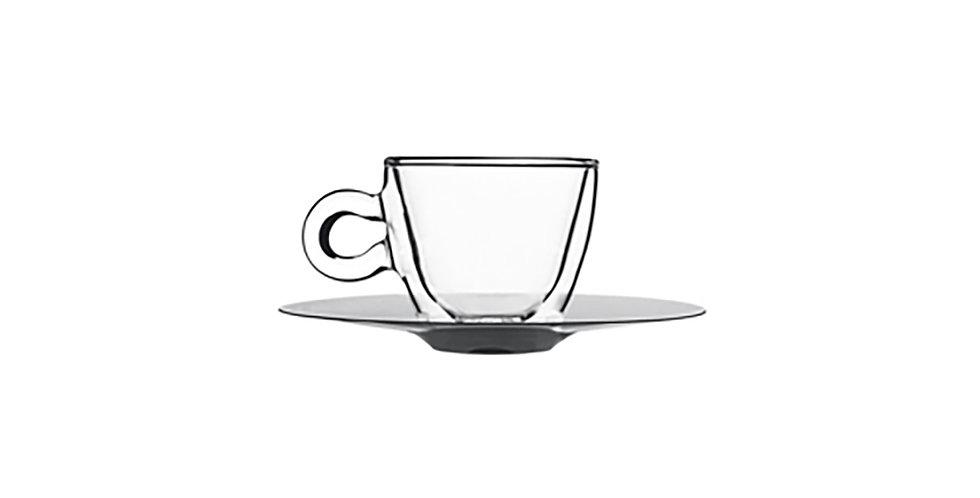Coffee Cup with Saucer Luigi Bormioli Drink&Design, 65ml