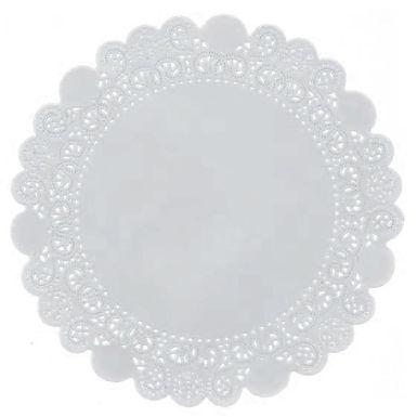 Round Coaster Leone Regal, Paper, Lace, 250 pcs, ex. Ø38cm, in. Ø25.4cm