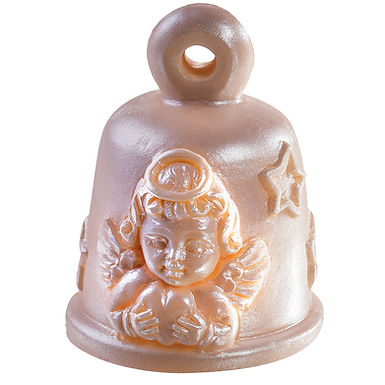 Bell Angel with Heart Mold Martellato, Silicone, Ø60x75mm