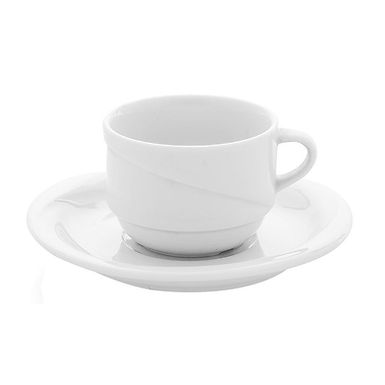 Stackable Cup Gural Porselen X-Tanbul, Porcelain, White, 2 Sizes