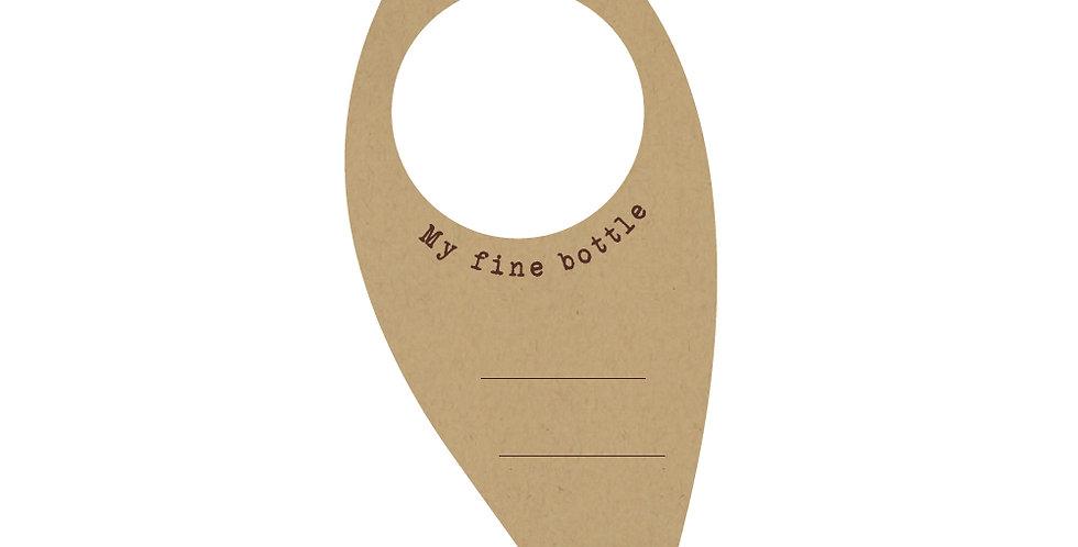 Bottle Collar Leone Natura, Paper, 250 pcs, 17x7.5cm