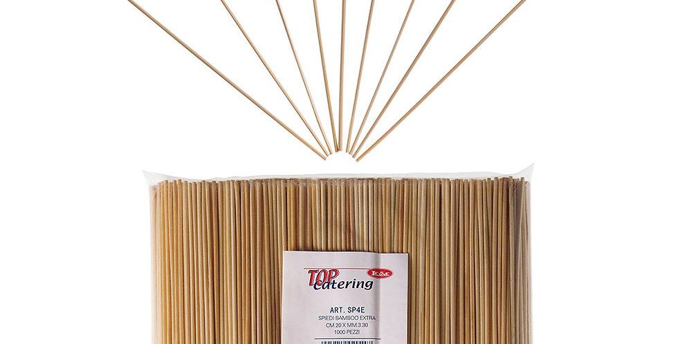 Sticks Leone, Bamboo, 1000 pcs, Ø2.5mm, 20cm