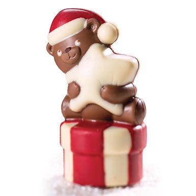 Tender Bear Mold Martellato 3D Christmas, Thermoformed Plastic, 67x54x105mm, 90g