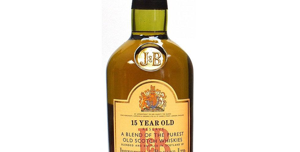 J&B 15 Year Old Scotch Whisky, 700ml