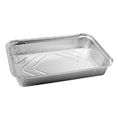 Aluminum Container for Takeaway/Delivery, 316x216x43mm, 2380ml