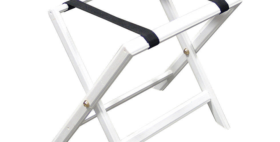 Luggage Rack, Foldable, Wooden, White, 50x38cm