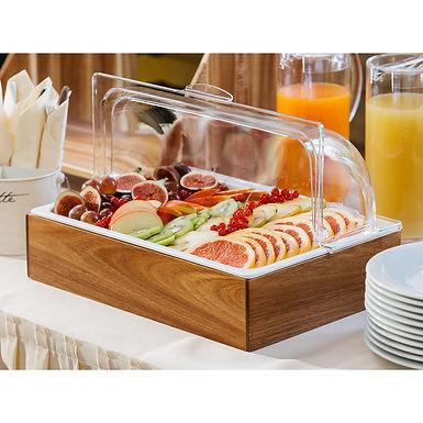 Buffet Delicatessen Set of 5 Pcs Leone, Bamboo/Melamine/PC, 1 pc, GN 1/1