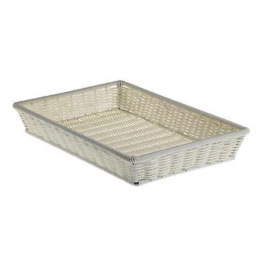 Basket Leone, Polypropylene, White, 1 pc, 41.5x28x8cm
