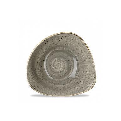 Bowl Churchill Stonecast, Triangle, Peppercorn Gray