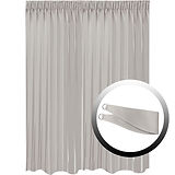 Blackout Curtain with 1 Tie, Light Gray, 295x290cm