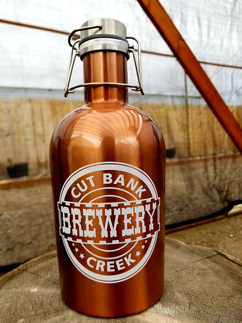 64 oz Copper Stainless Steel Growler