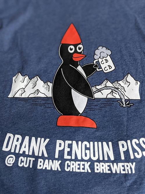 Penguin Piss T-shirt - Denim Blue