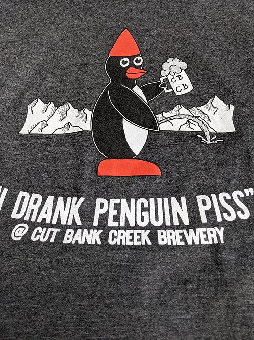 Penguin Piss Tee-Shirt, Dark Grey