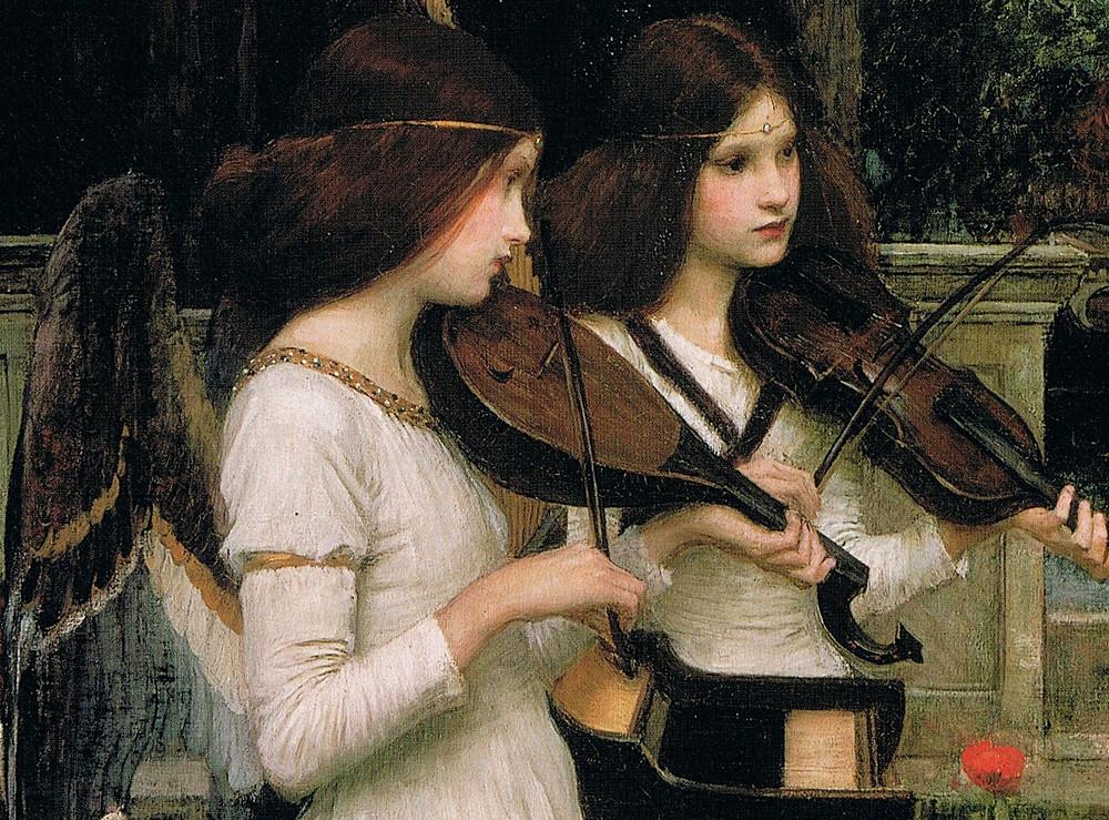 S.Cecilia - dettaglio. J.W. Waterhouse 1895